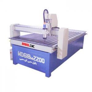 دستگاه حکاکی روی چوب مدل WD618W2200 دستگاه CNC چوب 60x180 cm