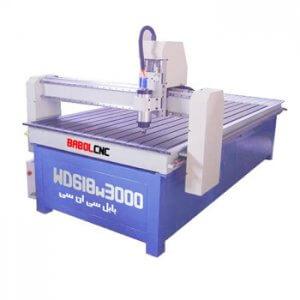 دستگاه حکاکی روی چوب مدل WD618W3000 دستگاه CNC چوب 60x180 cm