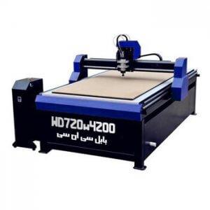 دستگاه حکاکی روی چوب مدل WD720W4200 دستگاه CNC چوب 70x200 cm